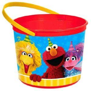 Sesame Street Plastic Favor Bucket Container